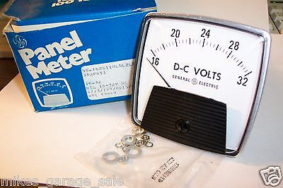50-162011nlnl2les General Electric 16-32 Dc Volts Panel Meter 3-12 Face Nos