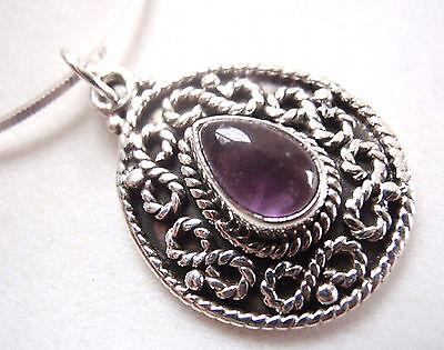Amethyst Infinite Love 925 Sterling Silver Infinity Necklace Corona Sun Jewelry