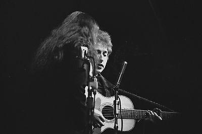 Bob Dylan with Joan Baez 4x6 Vintage 60's Photograph at folk concert #4B