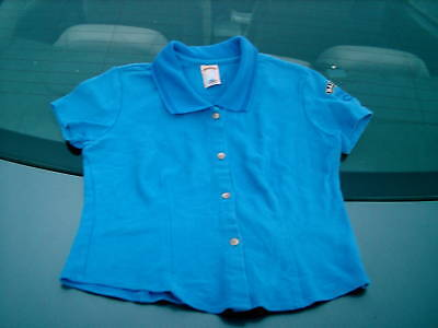 BAILEY'S LOGO BLUE WOMAN'S LARGE 100% COTTON SHIRT USA
