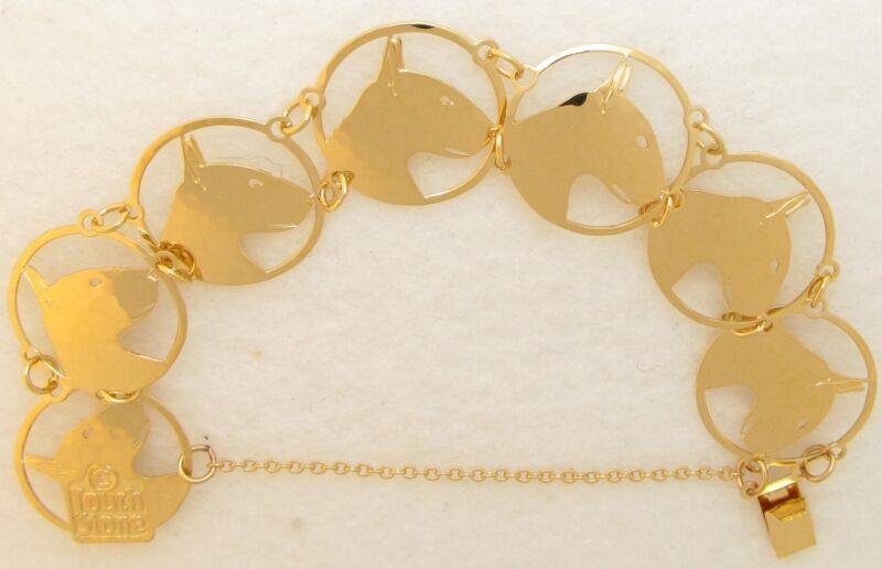 Bull Terrier Jewelry Gold Bracelet by Touchstone
