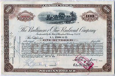 - Baltimore & Ohio Railroad Company Stock Certificate B&O CSX Brown