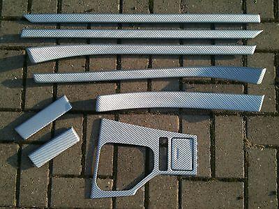 Dekorleisten Interieurleisten Carbon Struktur Folien Schwarz passend f/ür E39