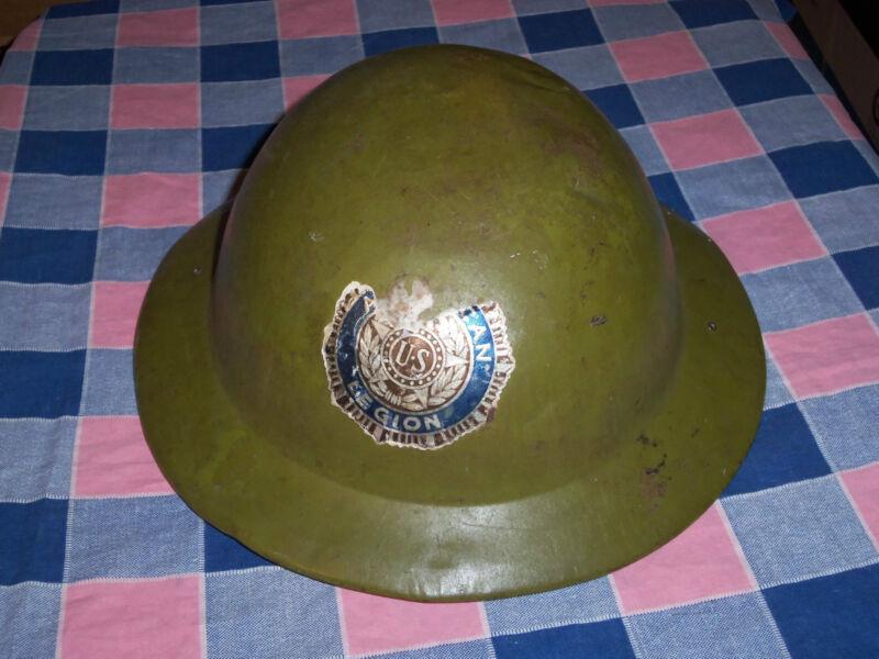 Military US American Legion Metal Doughboy Type Hat   ? Child