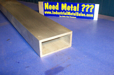 6063 Aluminum Rectangle Tube 2 X 4 X 12 X 14 Wall--2 X 4 X .250 Wall