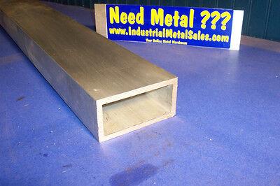6063 Aluminum Rectangle Tube 2 X 4 X 12 X 14 Wall--2 X 4 X .250 Wall