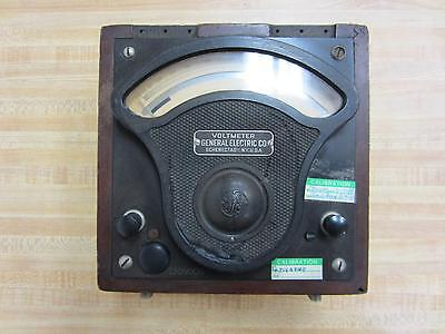 General Electric 586665 Antique Volt Meter Vintage Industrial 39070