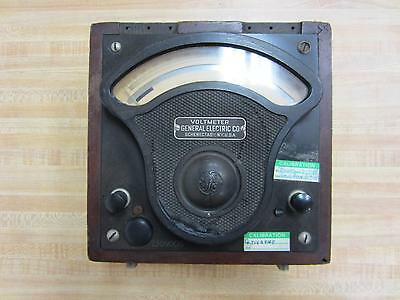 General Electric 586665 Antique Volt Meter Vintage Industrial 39070