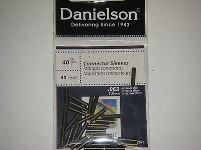 Danielson Connector Sleeves Fishing Wire Sleeve Black Sz 40 30 Pk  063 Dia