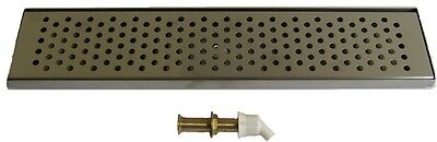 Draft Beer Drip Tray 24 X 5 14 W Form Fitted S.s. Grill And Drain -dt24ss-
