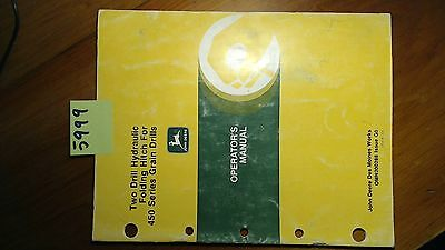 John Deere Two 2 Drill Hydraulic Folding Hitch 450 Grain Drill Operators Manual