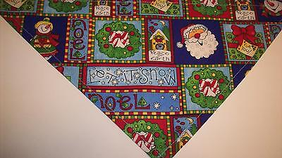Dog Bandana/Scarf Tie On/Slide On Christmas Santa Custom Made by Linda XS S M  L