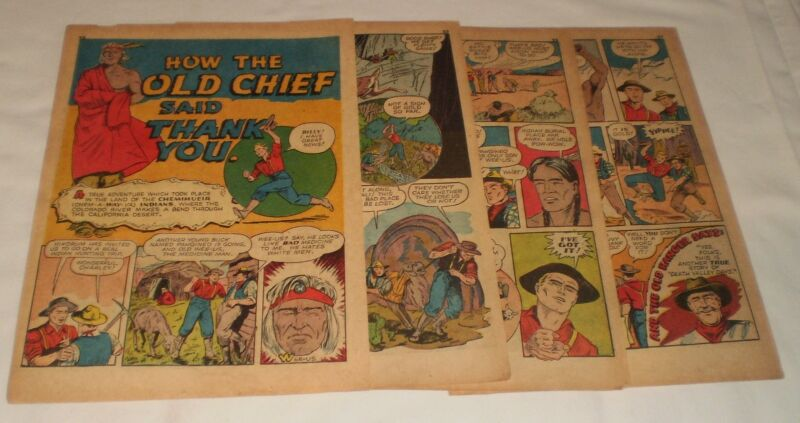 1942 WEE-US six page cartoon story ~ CHEMIHUEIR INDIANS