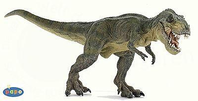 NEW PAPO 55027 Green Tyrannosaurus Rex Dinosaur MOVING JAW - Running Pose T-Rex