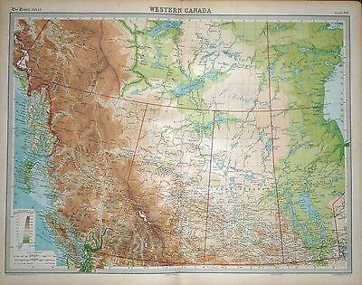 1920 LARGE MAP ~ WESTERN CANADA ~ 23