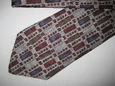 Mens Multi-Color Silk Print Tie Necktie Guess (3377)  Guess Print Tie