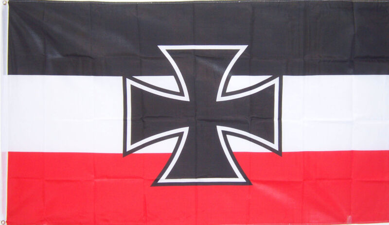 NEW 3ftx5ft GERMAN NAVY JACK IRON CROSS FLAG better quality usa seller