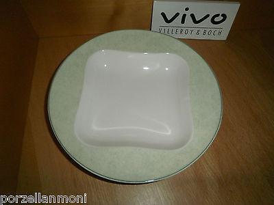 Frühstücksteller rund 23 cm Vivo Villeroy&Boch grüner Rand 706