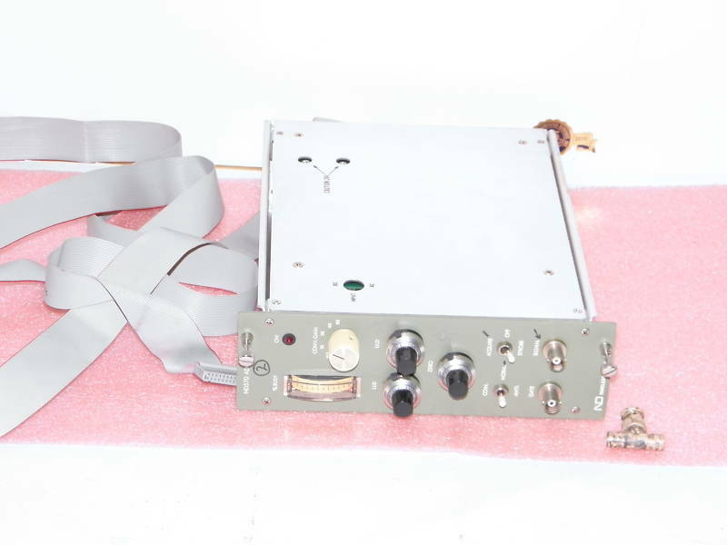ND Nuclear Data ND570 ADC NIM module with cable 88-0673