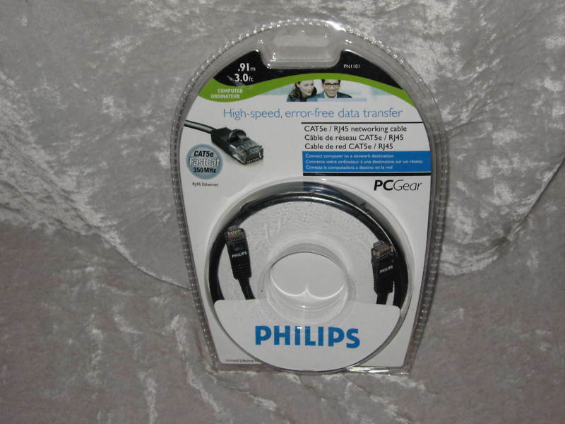 Philips FastCat Cat5e Networking Cable Ethernet RJ45