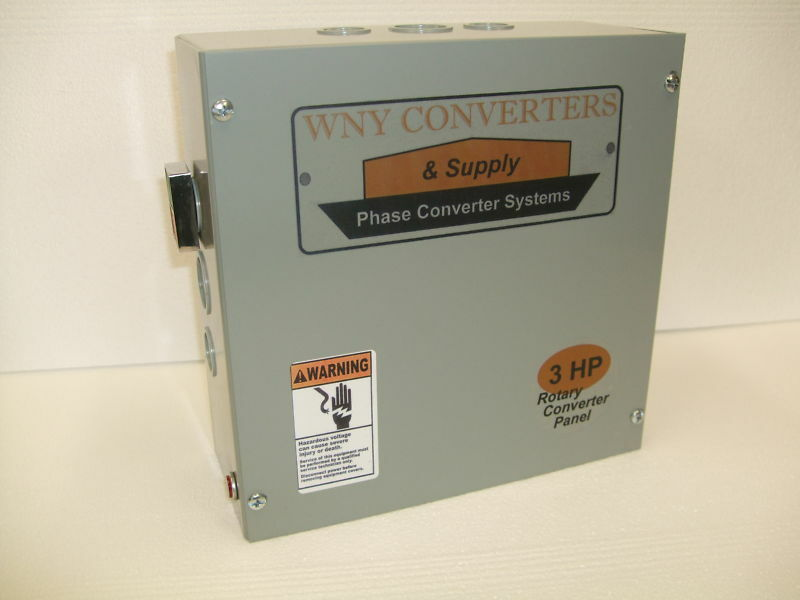 3 Hp phase converters control panel CONVERTER ROTARY made in USA RP03
