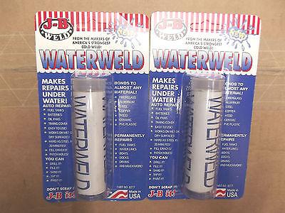 2 TUBES OF J B  WATER WELD  # 8277. W5.7.