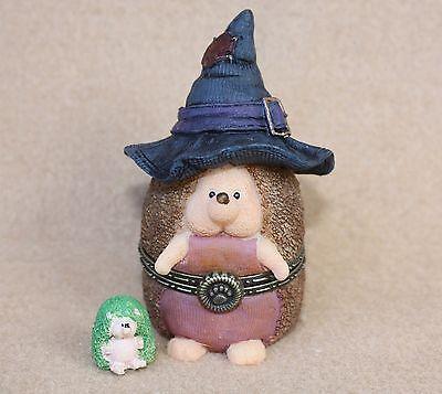 Boyds Bears Resin Witchley Hallowhedge Hedgehog Halloween Treasure Box