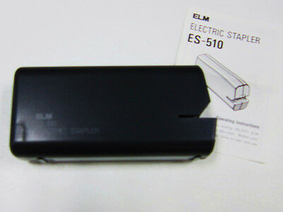 Elm Stapler Es-510 Black Battery Operated Batteries Not Included 4 Aa