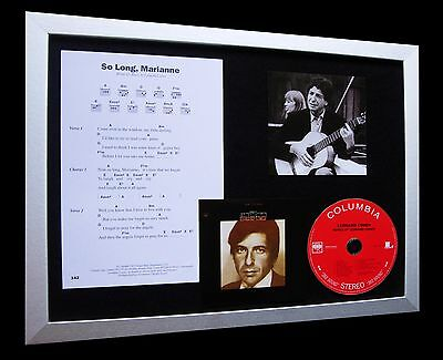 LEONARD COHEN So Long Marianne TOP QUALITY CD FRAMED DISPLAY+FAST GLOBAL SHIP