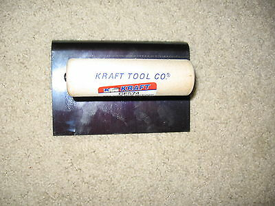 6 X 4 Blue Steel Hand Edger 12 Radius-concrete Tool-made In The Usa