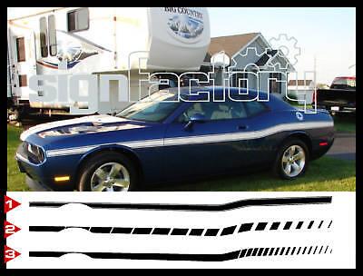Dodge Challenger Retro Hood Lettering Decals Stripes 2008 2009 2010 Pro Motor