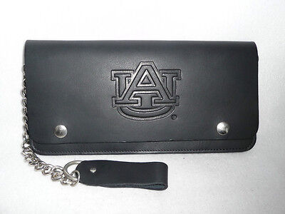 AUBURN TIGERS    Leather Truckers Wallet    by RICO     New! Auburn Tigers Black Leather