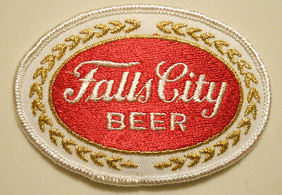 Falls City Beer Patch Embroidered Patch Ale 3-3/4 inches Iron on