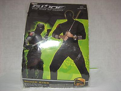 Snake Eyes Deluxe Muscle Adult XL (42-46) Costume GI Joe Very Rare NEW NIB NIP