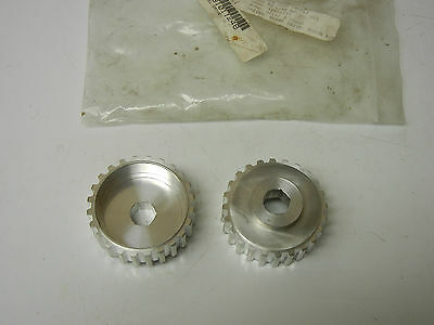 Set Of 2 Bosch 8981011248 New Conveyor T10-24t Pulley Drive Wheels 8981011248