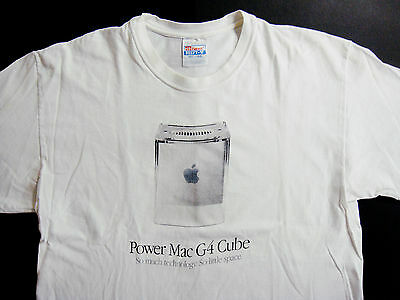 Apple Computers Shirt T Shirt Vintage 1999 Power Mac G4 Cube Computer i Phone L for sale  Shipping to Canada