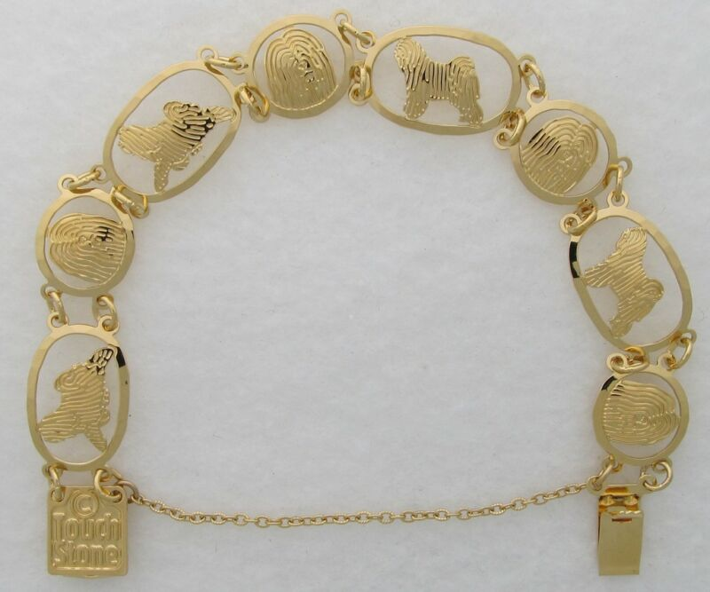 Tibetan Terrier Jewelry Gold Bracelet by Touchstone