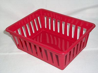 Red Kitchen Basket Drawer Storage Container Organizational Tray Bin Crate ](Organizational Bins)