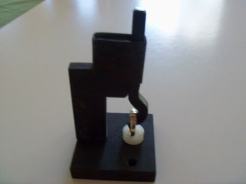 Metal Punch Stamp Holding Device And 4 Stamps  For Marking Jewelry