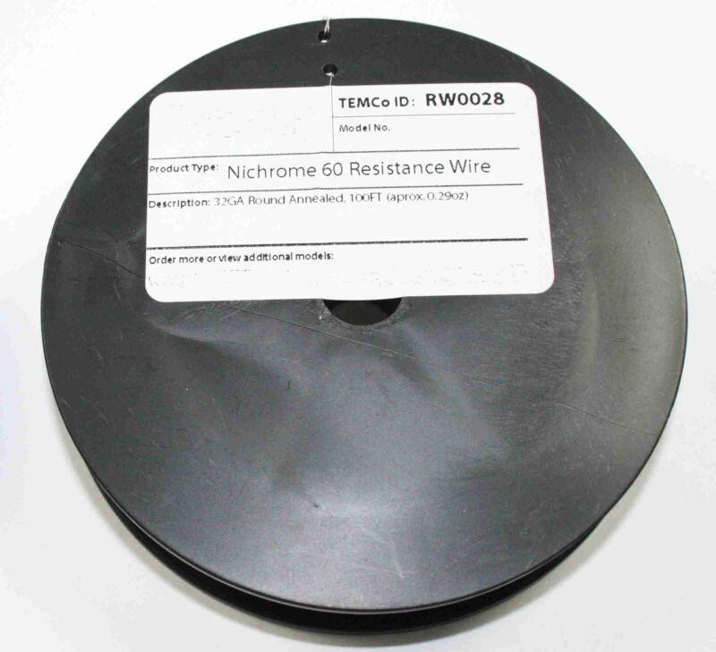 Nichrome 60 Resistance Wire 100ft spool - 32Gauge