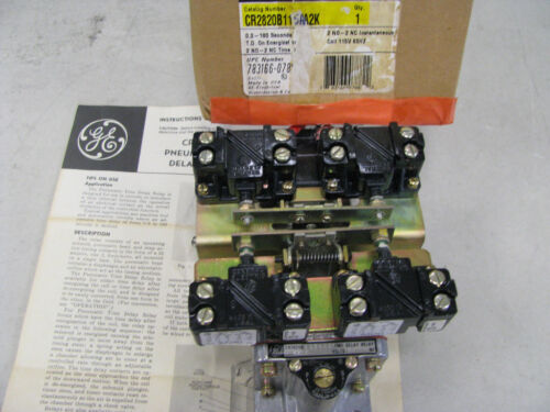 General Electric CR2820B115AA2K Relay , Pneumatic Time Delay