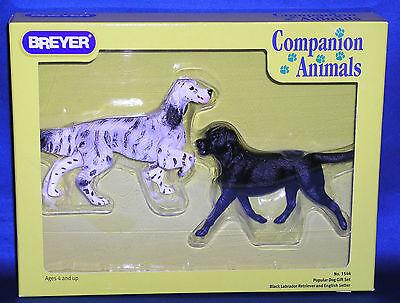 Breyer 2004 06 Black Labrador   English Setter Popular Dog Set Companion Animal