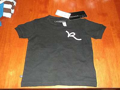 ROCAWEAR SHIRT BLACK 4-679-5 size 2T New with Tags 24 M