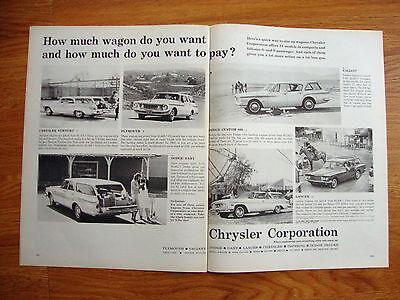 1962 Chrysler Dodge Plymouth Station Wagon Ad