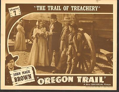 1939 Movie Lobby Karte 3-1260 Oregon Trail Johnny Mack Brown Seriell CH7