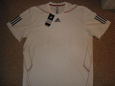 NWT Adidas Barricade Edge Tee White Tennis Shirt P92744 New Murray - Medium RARE ()