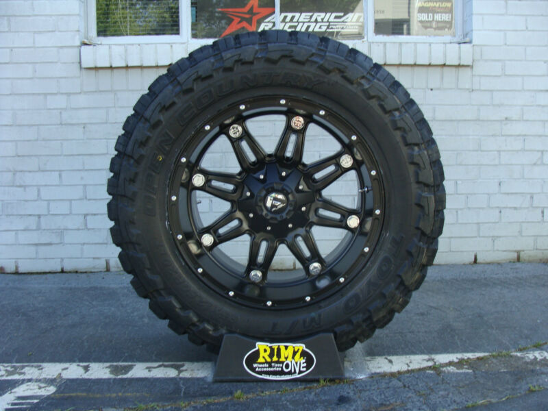 "20"" Fuel Off Road Hostage Black Toyo Mt 33x12.50r20 33"" Mud Tires Rimzoneonline"