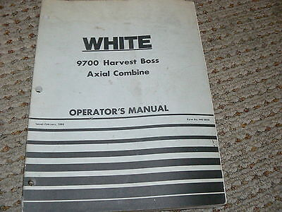 Oliver White Tractor 9700 Harvest Boss Combine Operators Manual