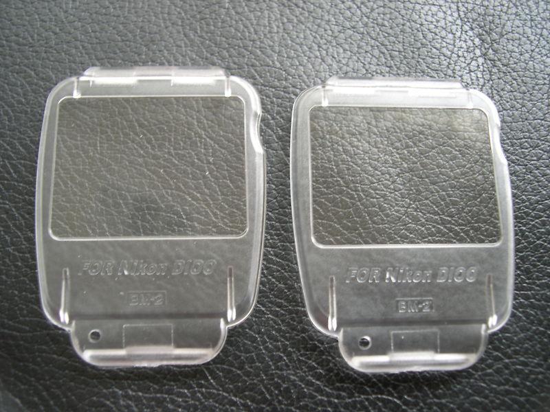 New 2 x LCD Covers for Nikon D100 BM-2 BM 2 BM2