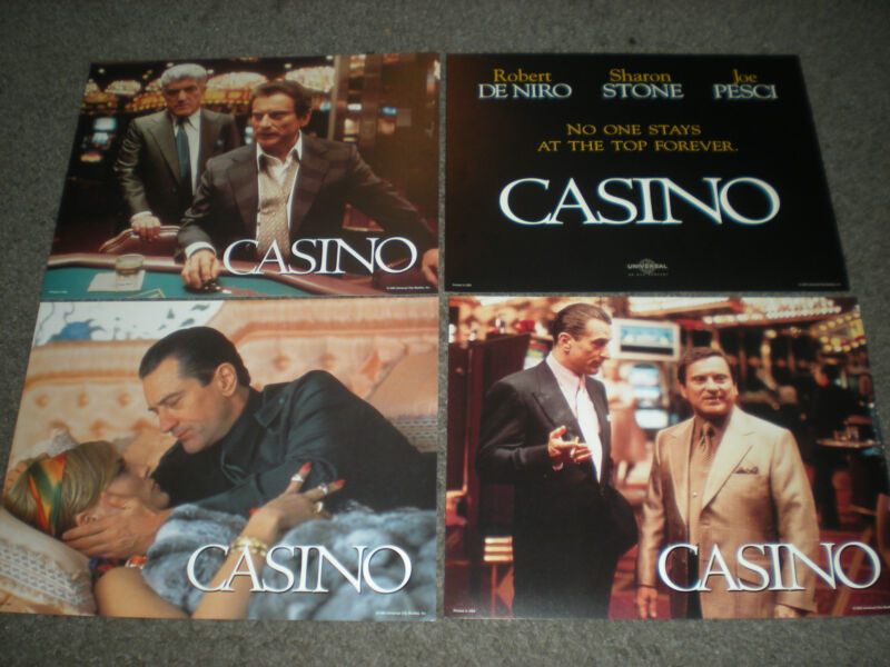 CASINO - ORIGINAL SET OF 8 X 10 LOBBY CARDS - BRAND NEW AND SEALED!